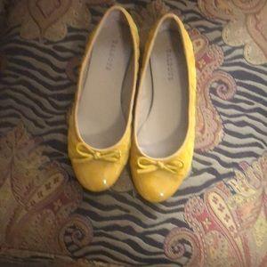 Talbots gold ballet flats